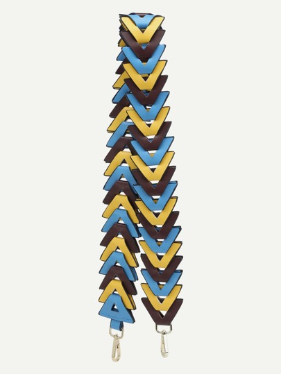 Multicolor PU Triangulation Shoulder Strap