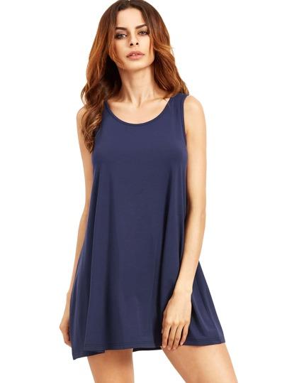 Vestito senza maniche - blu reale