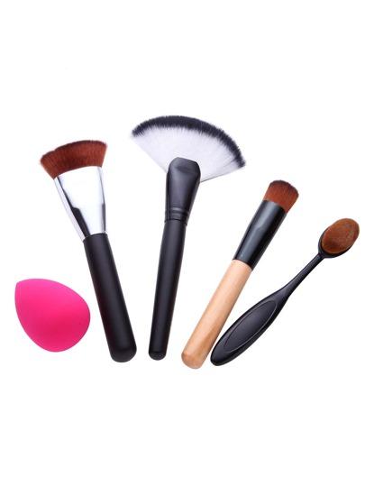 5PCS Brush Powder Puff Makeup Tool Set