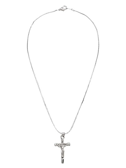 Silver Plated Cross Pendant Necklace