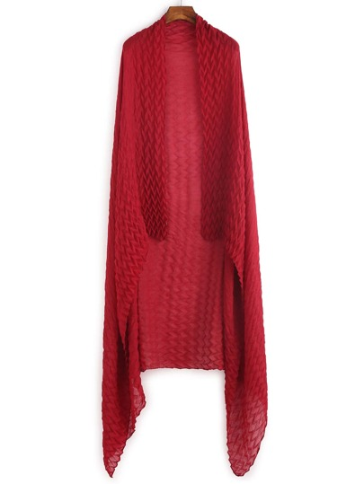 Red Drape Soft Long Scarf