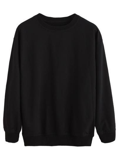 Black Drop Shoulder Sweatshirt