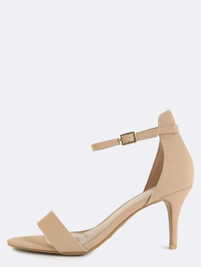 Classic Single Sole Skinny Heels NUDE