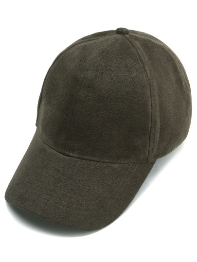 Army Green Suede Baseball Cap