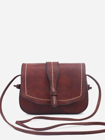 Stitch Flap Saddle Bag