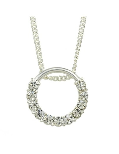 Silver Round Pendant Necklace
