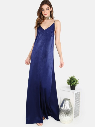 Satin Cami Maxi Dress NAVY