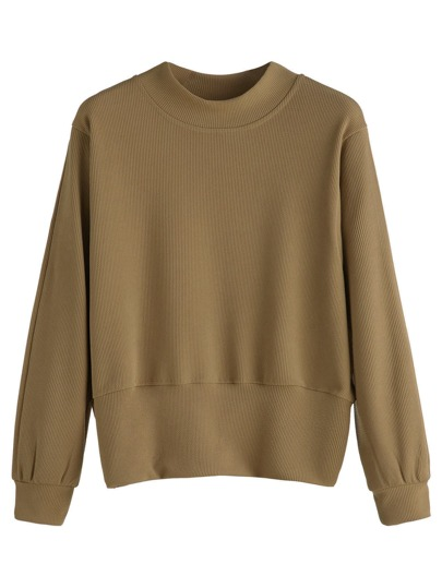 Khaki Long Sleeve Sweatshirt