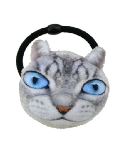 Gray  Cat Elastic Hair Band