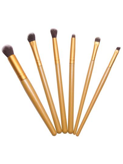6PCS Gold Professional Makeup Brush Set