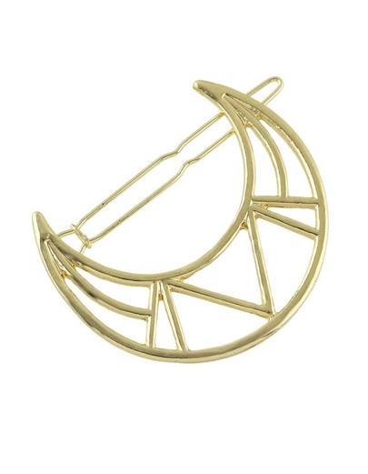 Gold Moon Shape Hair Clip
