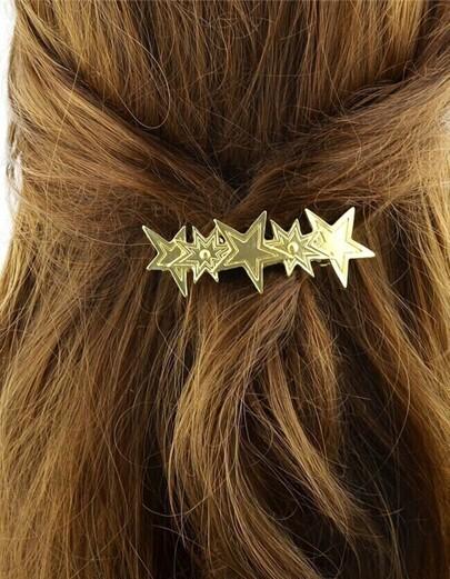 Gold Plated Star Hair Clip