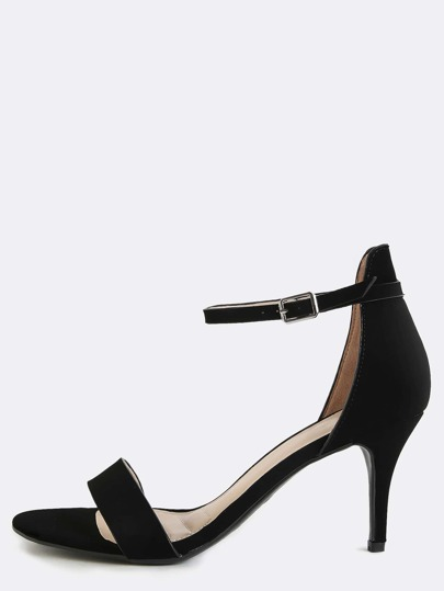 Classic Single Strap High Heels BLACK