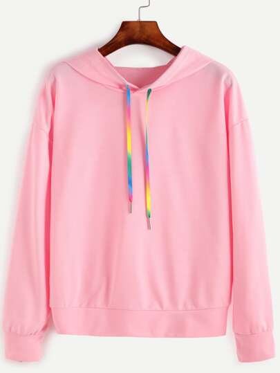 Sweat-shirt avec capuche - rose