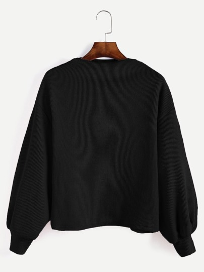 Jersey de manga farol de canalé - negro