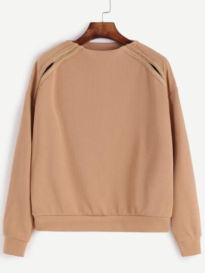 Apricot Drop Shoulder Sweatshirt
