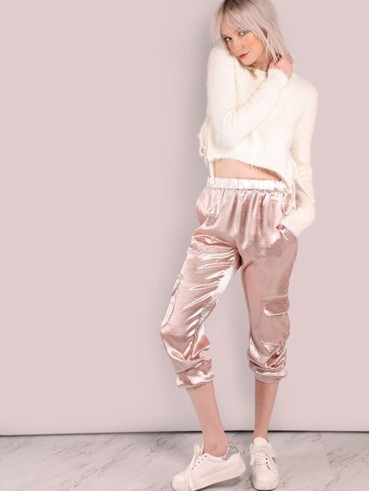 Satin Pocket Joggers BLUSH