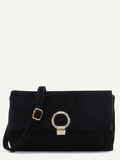 Messenger Tasche Nubukleder-schwarz