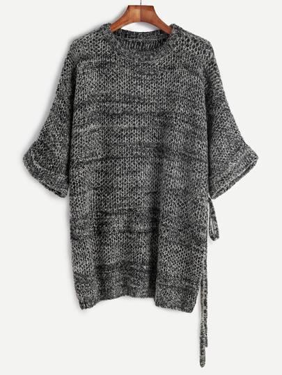 Pullover Halbärmel-grau