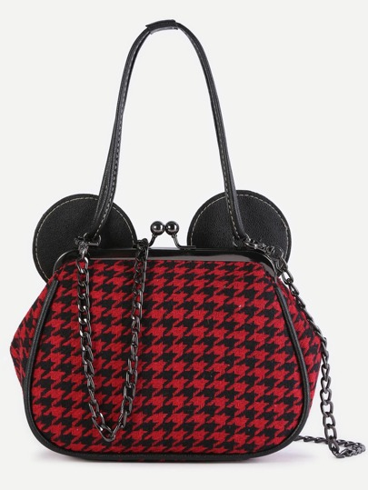 Red Plover Case Mickey Bag With Chain