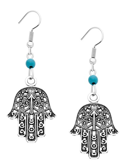 Tima's Hand Hollow Out Vintage Drop Earrings