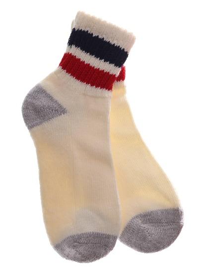 Double Stripe Ankle Crew Socks