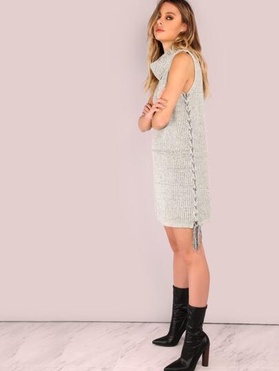 Cowl Neck Sweater Dress OATMEAL