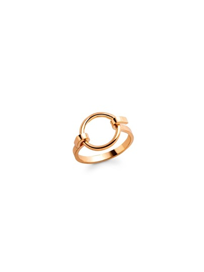 Gold Plated Circle Hollow Out Ring