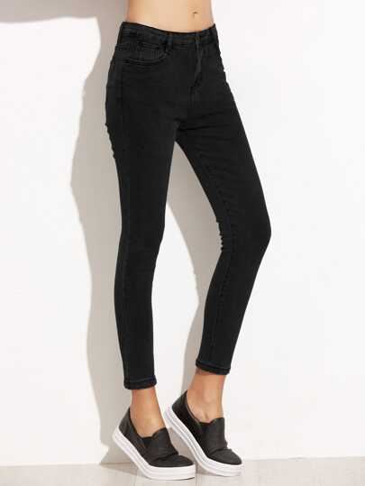 Pantalons en denim collants noir