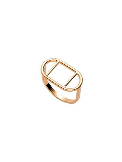 Gold Plated Geometric Hollow Out Ring