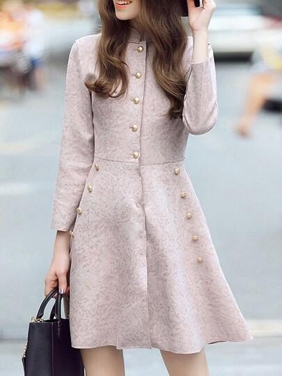 Vestido línea A con bolsillo - rosa