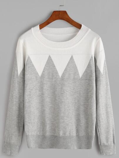 Jersey de color combinado - gris
