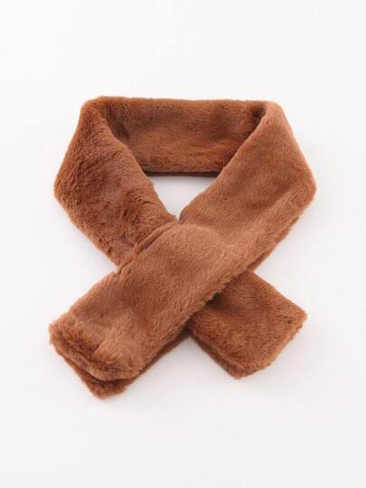 Coffee Faux Fur Tippet Scarf