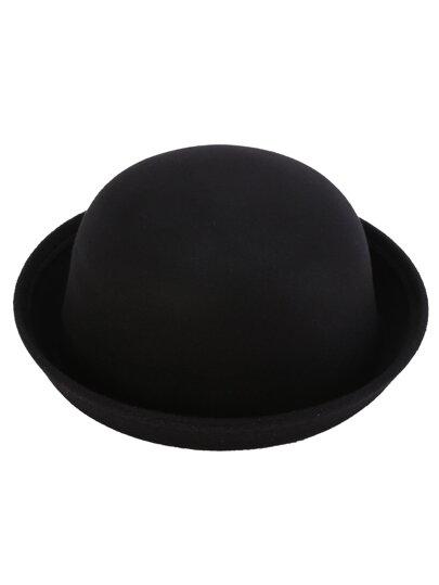 Black Vintage Felt Bowler Hat