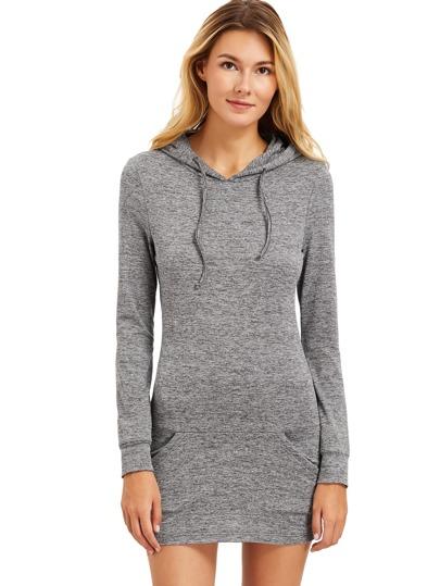 Drawstring Hooded Sweatshirt With Pocket