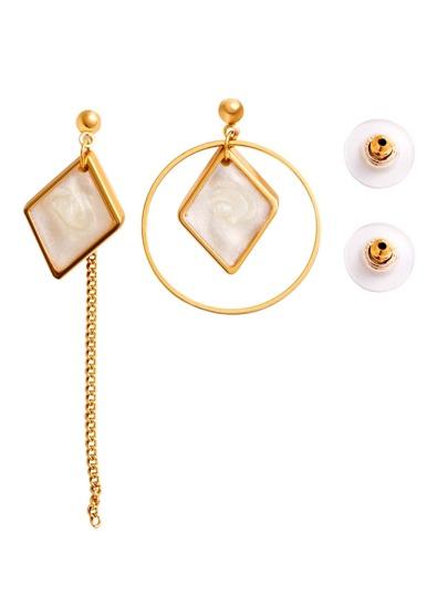 Gold Plated Geometric Asymmetrical Earrings