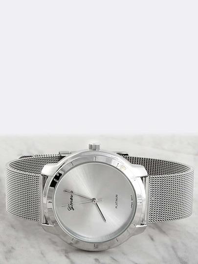Hi-Shine Round Wristwatch SILVER