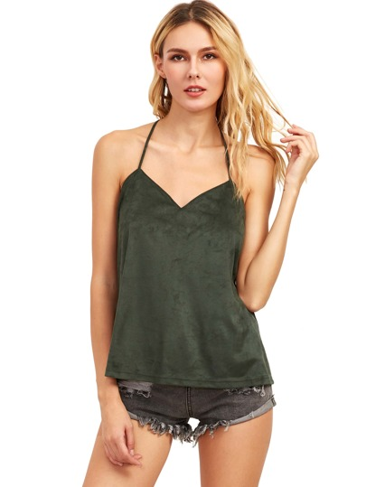 Green Spaghetti Strap Tank Top