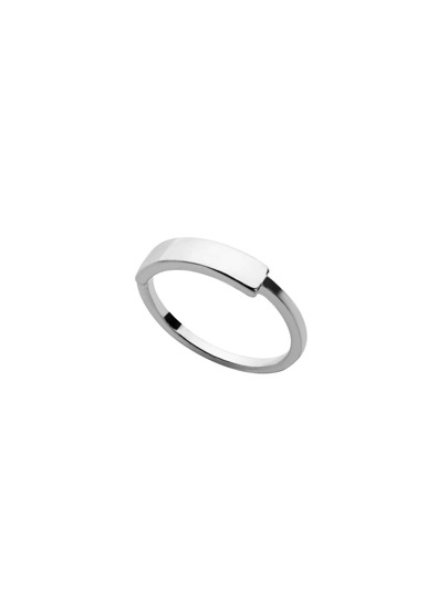 Silver Plated Polished Minimalist Ring