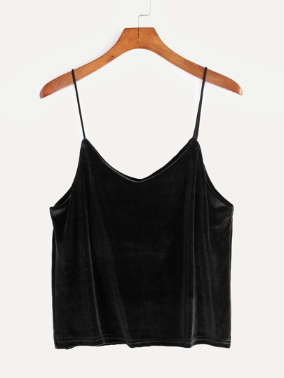 Black Velvet Cami Top