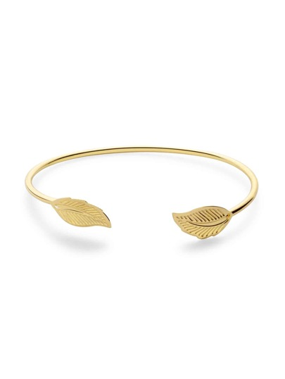 Gold Plated Leaf Wrap Bangle
