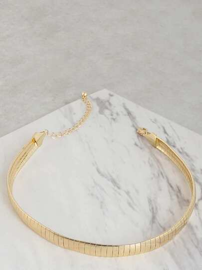 Metallic Snake Chain Necklace GOLD