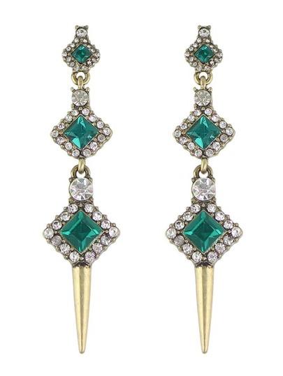 New Colorful Rhinestone Hanging Drop Earrings