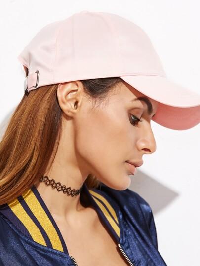 Pink Satin Baseball Cap