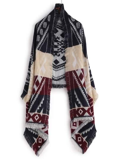 Многоцветный модный шарф с геометрическим принтом