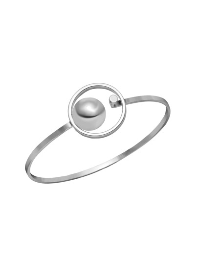 Silver Plated Minimalist Open Bangle