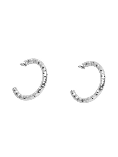 Silver Plated Arc Stud Earrings