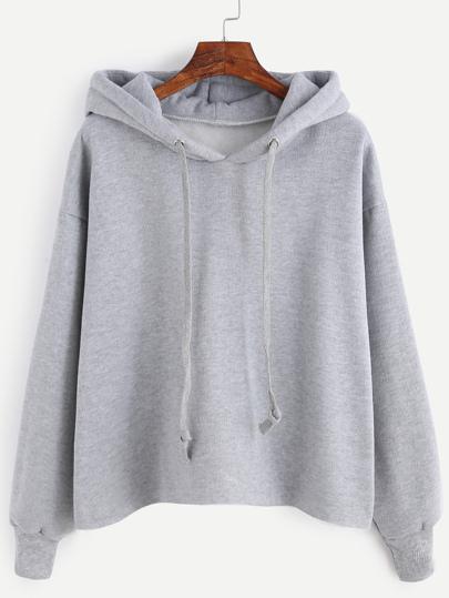 Sweat-shirt avec capuche et lacet - gris