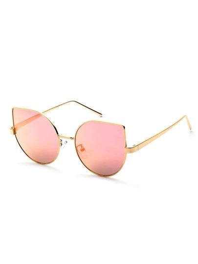Gafas de sol con marco de metal ojo de gato - rosa