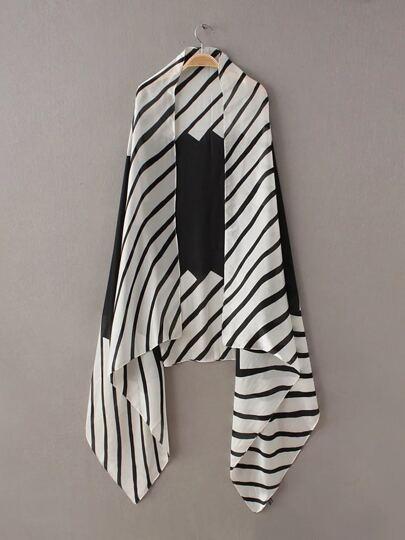 Черно-белая полоса Гладкий шарф